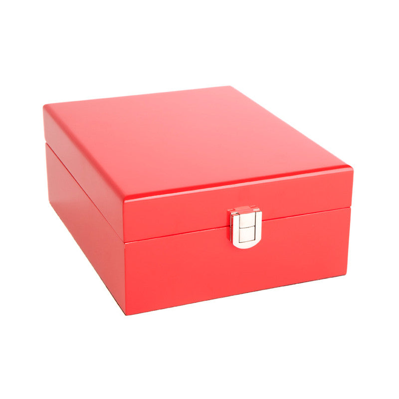 Kandi Small Jewellery Box Red 21cm Open KJ02RE
