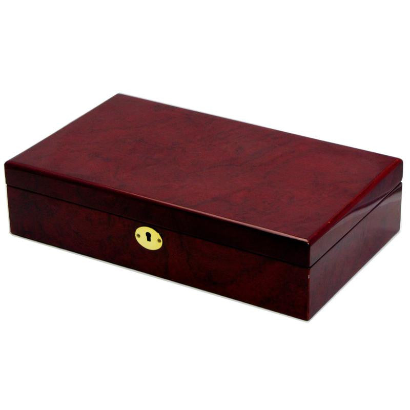 Pearl Time 12 Watch Box, Matt Brown Finish, 34cm
