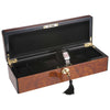 Pearl Time 6 Watch Box Black Interior, Brown Piano Finish, 34cm
