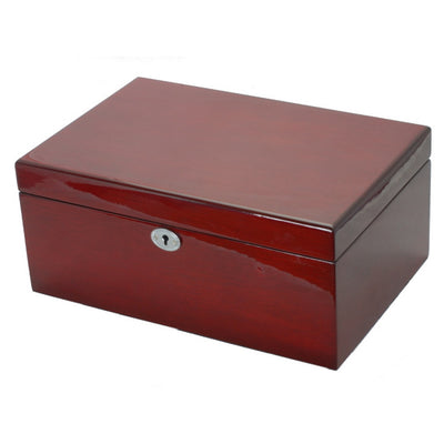 Pearl Time Jewellery And Watch Box Cherry Tone Finish 30cm Closed PJ620-3