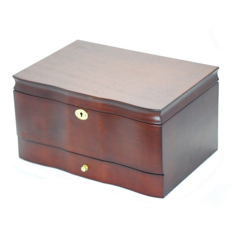 Pearl Time Single Drawer Jewellery Box, Matt Dark Brown Finish, 33cm
