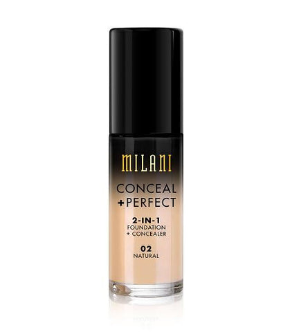 Milani Conceal + Perfect 2in1 Foundation + Concealer - Natural