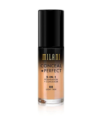 Milani Conceal + Perfect 2in1 Foundation + Concealer - Light Tan