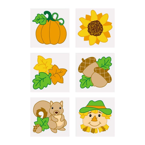 "72 ~ Fall / Autumn Temporary Tattoos ~ approx. 1.5"" ~ New / Individually packaged"