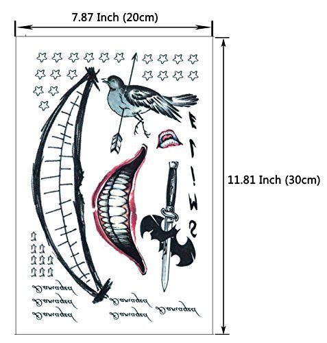 6a05c27c0 DaLin Temporary Tattoos for Costume Accessories and Parties 3 Large Sh –  Makeup Shack (Pty) Ltd