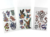 6 Packs Mini Temporary Tattoo Book, Cool Animals Tattoos for Guys