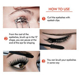 4D Silk Fiber Lash Mascara, 2 Pack Waterproof Luxuriously Longer Thicker Voluminous Eyelashes...