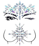 2 Sets Mermaid Face Gems Rhinestone Tattoo Festival Jewels Face Chest Forehead Body Temporary...