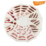 12pcs Realistic Fake Bloody Wound Stitch Scar Scab Horror Halloween Makeup Props Waterproof...
