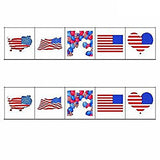 American Flag Tattoos,Temporary Tattoos Face Body Decor,USA Flag Stickers, Party Decorations...