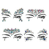 8PCS Rhinestone Mermaid Festival Face Jewels Crystal Tattoo Eyes Face Body Temporary Gems...
