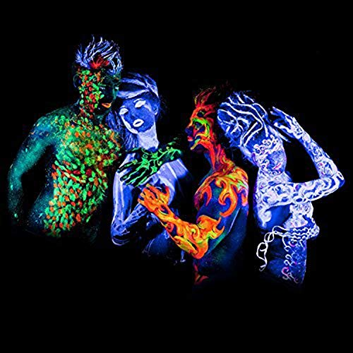 Miraculous Uv Glow Blacklight Face And Body Paint 24 Tubes Box Neon Face Paint In The Dark Black Light Paint Home Remodeling Inspirations Genioncuboardxyz