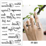 5 Sheets Temporary Waterproof Tattoo Sticker Vivid Life Like Lotus Beauty Body Makeup Art