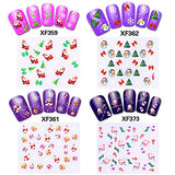 700+ Designs Christmas Nail Decals(20 Sheets), Konsait Christmas Nail Wraps Peel and Stick 3D Nail Art...
