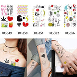 20 Sheets Children Cartoon Small Pattern Temporary Tattoo Sticker Water Transfer Cute