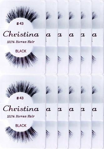 12packs Eyelashes - #43 by Christina