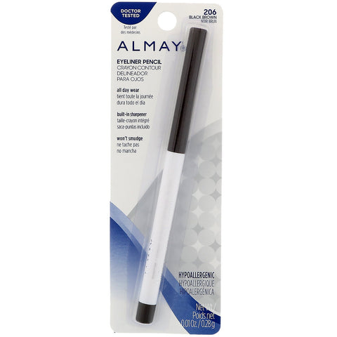 Almay Eyeliner Pencil, Black Brown [206], 0.01 oz