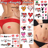 40+ Sexy Naughty Temporary Tattoos for Women Ladies- Adult Fun for Lower Back Legs Arms Butt...