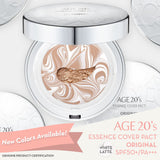[ AGE TWENTIES ] Age 20's Compact Foundation Premium Makeup, 1 Extra Refill - White Latte Essence...