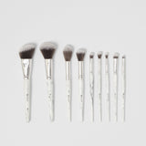 BH Cosmetics White Marble - 9 Piece Brush Set