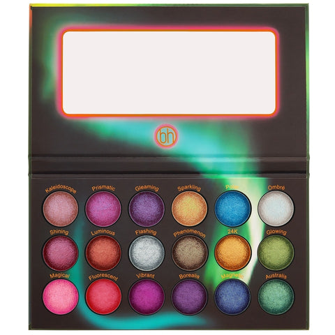 BH Cosmetics Aurora Lights 18 Color Baked Eyeshadow Palette