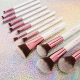 BH Cosmetics Crystal Quartz - 12 Piece Brush Set