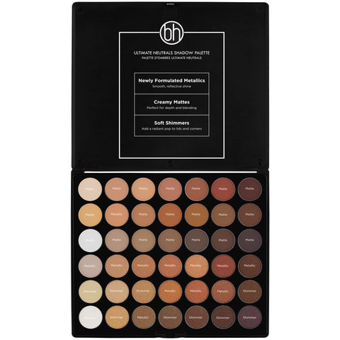 BH Cosmetics Studio Pro Ultimate Neutrals - 42 Color Shadow Palette