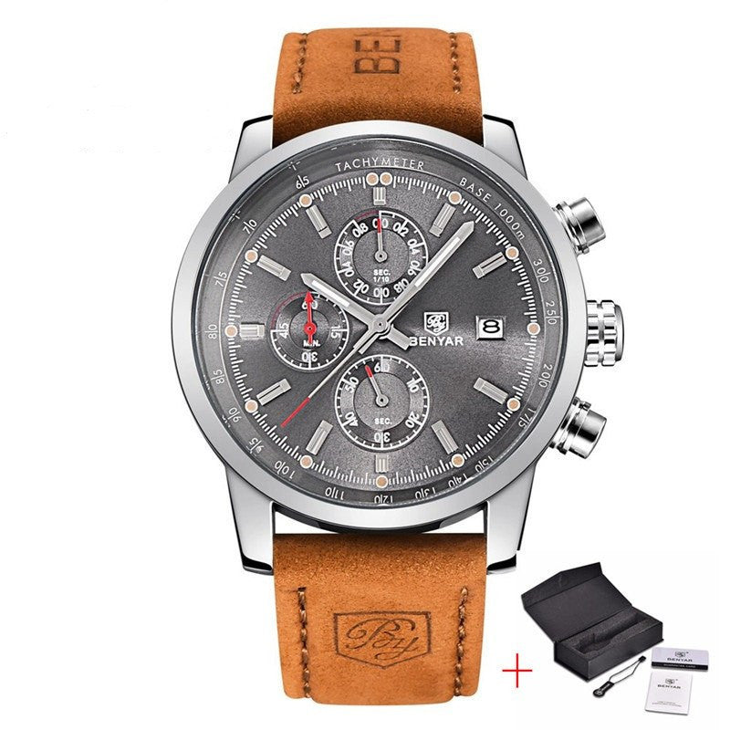 Classy Men's Leather Watch