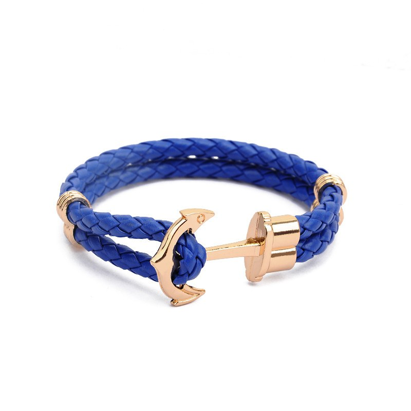 Quality Leather Unisex Anchor Bracelet