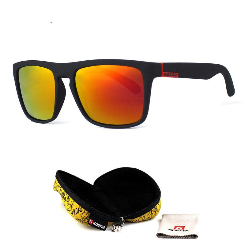 Polarized Men's Sport Sunglasses - Mirror Effect + FREE Case