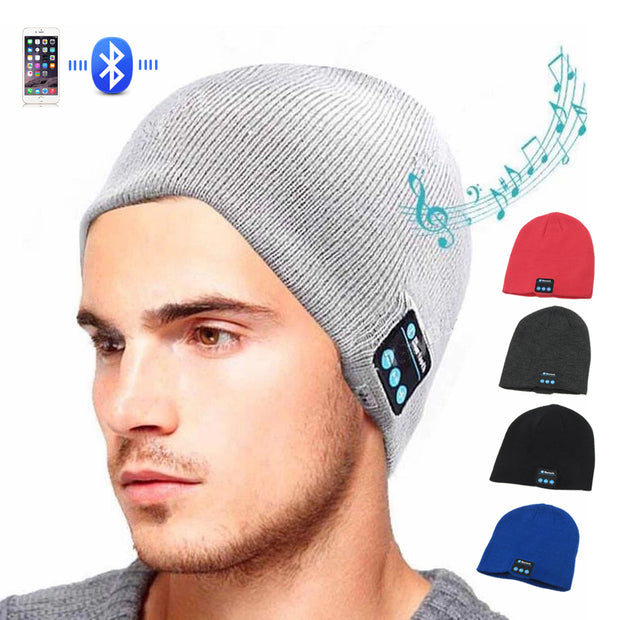 Warm Winter Beanie with bluetooth speaker/headphones