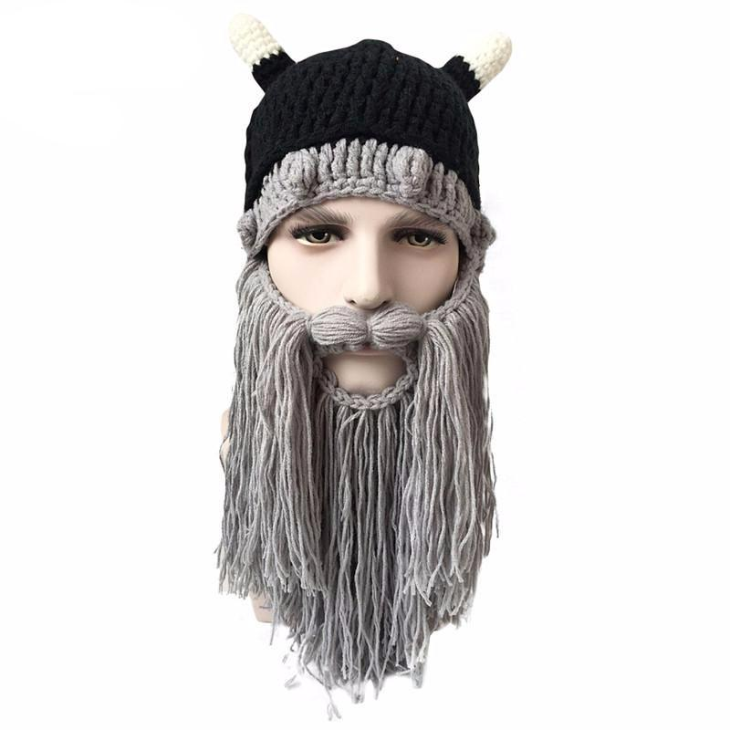 3967cb39 Viking Barbarian Beard Beanie