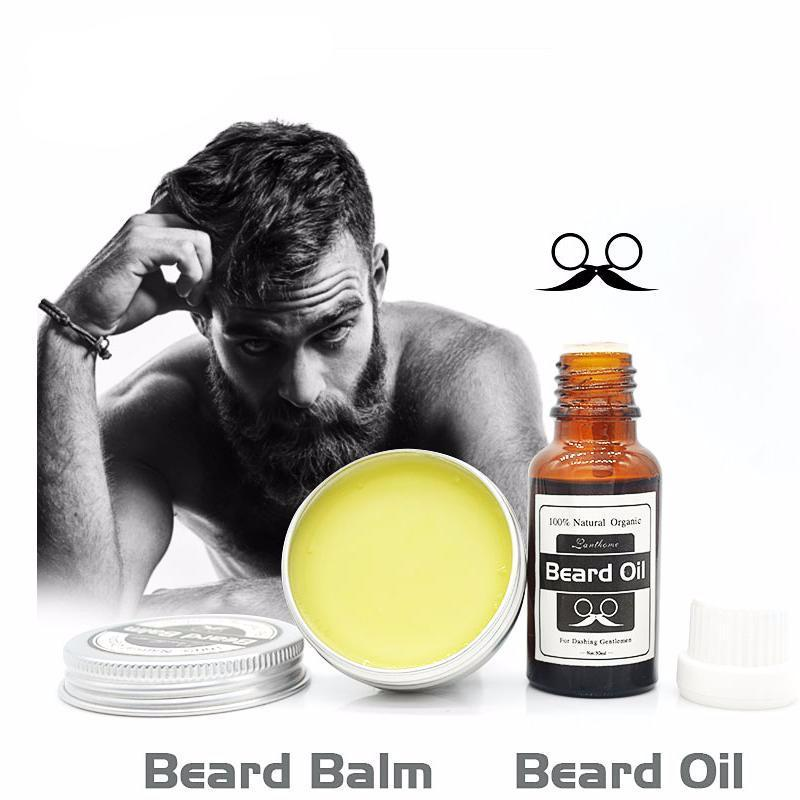 100% Natural Beard Balm + Beard Oil Set
