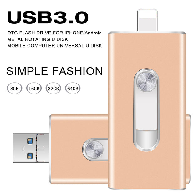 3.0 USB Flash Drive Storage - iPhone
