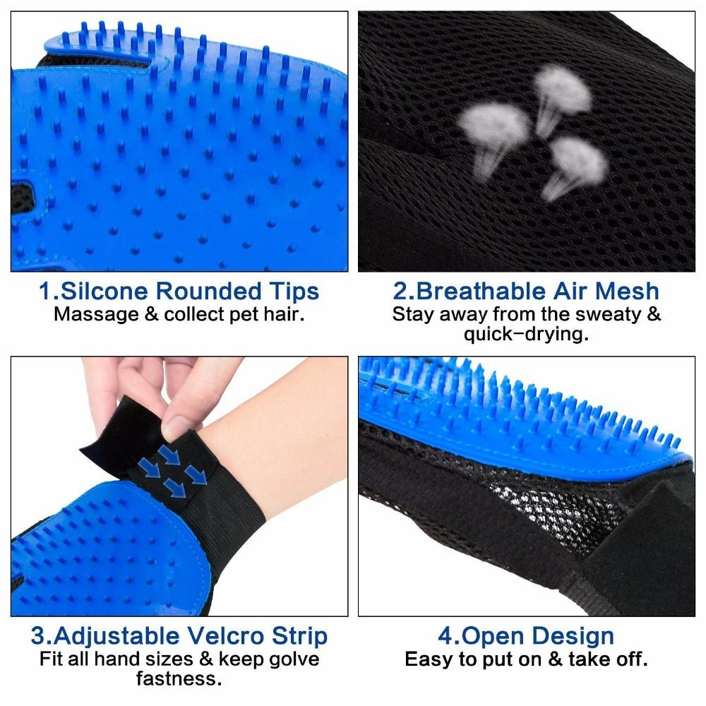 Pet Grooming Deshedding Glove (for Cats/Dogs)
