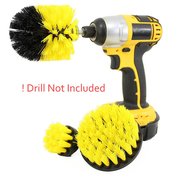 Power Scrubber Brush Set - 3 Pcs