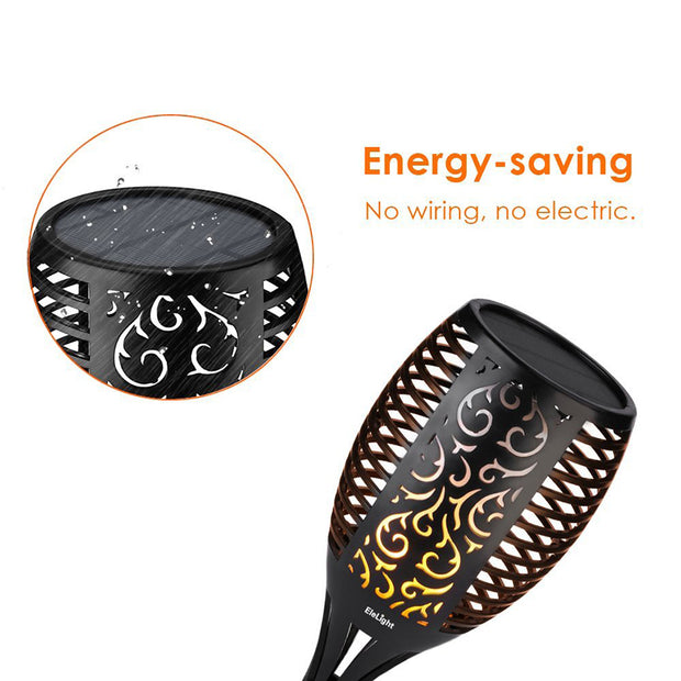 Solar LED Flame Lamp