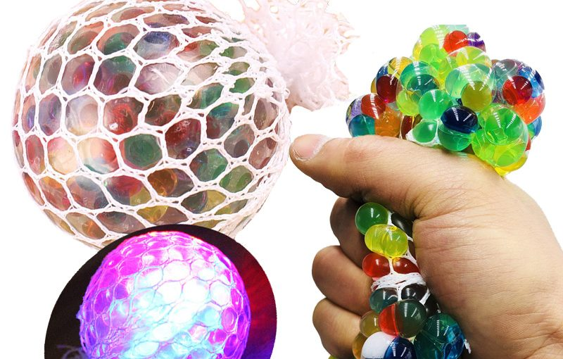 Colorful anti stress squishy ball