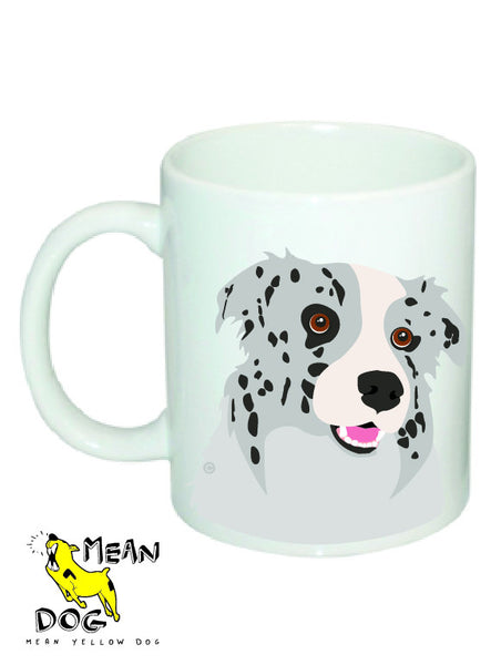 Mean Yellow Dog - MUG002 - BORDER COLLIE MERLE