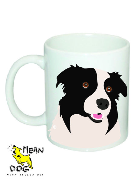 Mean Yellow Dog - MUG003 - BORDER COLLIE