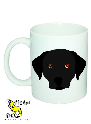 Mean Yellow Dog - MUG028 - LABRADOR BLACK