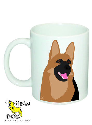 Mean Yellow Dog - MUG029 - GERMAN SHEPHERD