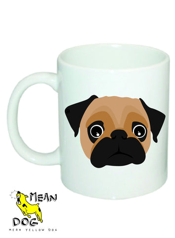 Mean Yellow Dog - MUG035 - PUG