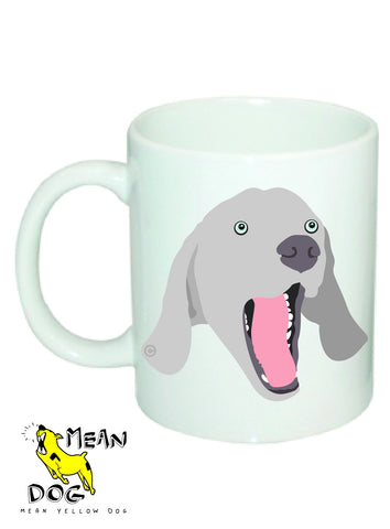 Mean Yellow Dog - MUG046 - WEIMARANER