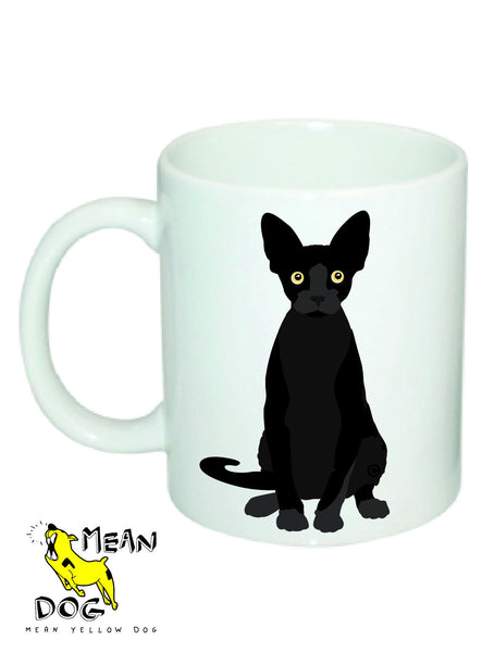 Mean Yellow Dog - MUG050 - BLACK CAT