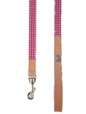 Leather Leash Vichy Pink