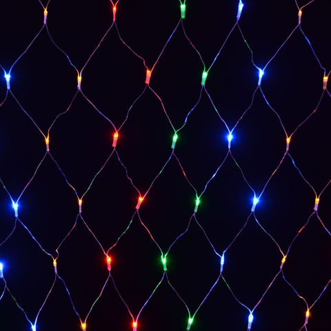 Christmas Decor 180 LED Net Lights Multi Coloured