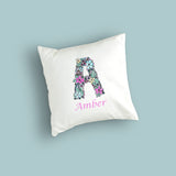 Personalised Floral Alphabet Cushion Cover
