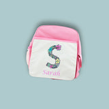 Personalised Floral Alphabet BackPack
