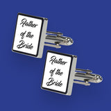 5 Pairs of Personalised Wedding Cufflinks - Text Only